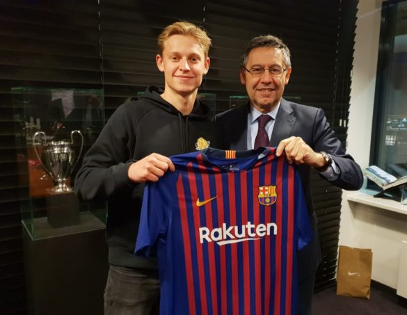 """Frenkie de Jong: """"Az FC Barcelona a labdarúgás csúcsa!"""""""